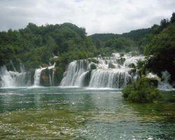 Falls in Krka National Park , Croatia