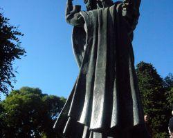 Statue of Bishop Grgur fron Nin at Split, Croatia