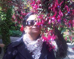 Geeta Subramanium In Butchart Gardens British Columbia